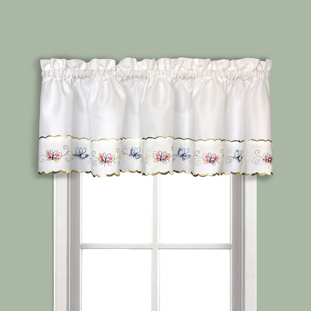 United Curtain Co. Butterfly Tier Valance - 52'' x 12''