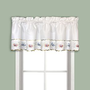 United Curtain Co. Butterfly Tier Window Valance - 52'' x 12''