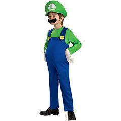 Nintendo Mario Brothers Luigi Costume Boys by