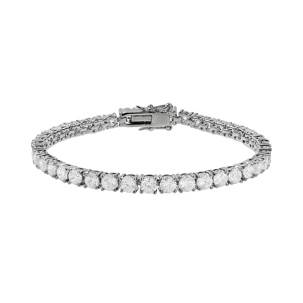 The Silver Lining Cubic Zirconia Silver Tone Tennis Bracelet