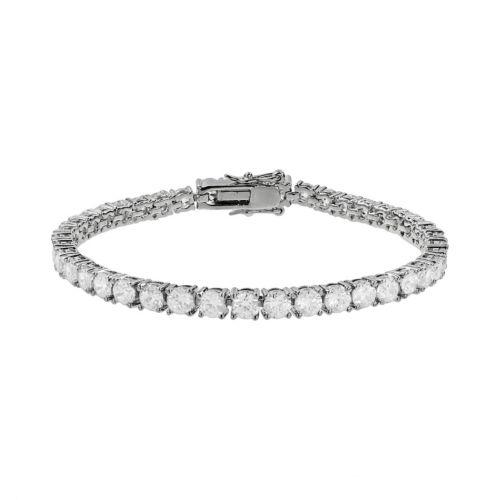 The Silver Lining Cubic Zirconia Silver Tone Tennis Bracelet