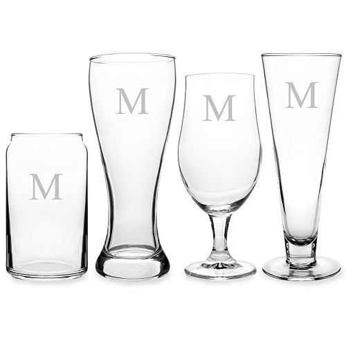 Cathy's Concepts Monogram 4-pc. Specialty Beer Glass Set