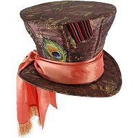 Disney Alice In Wonderland Mad Hatter Costume Hat - Adult