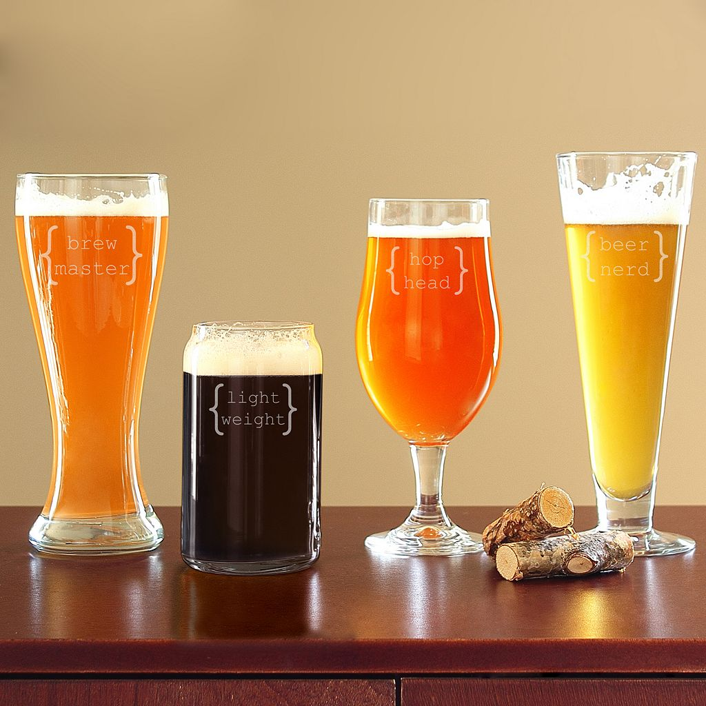 Cathy's Concepts 4-pc. Specialty Beer Glass Set