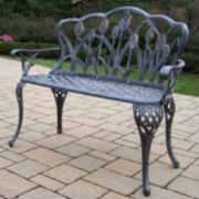 Tulip Cast Aluminum Outdoor Bench