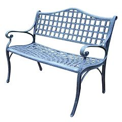 Elite Cast Aluminum Outdoor Settee Bench