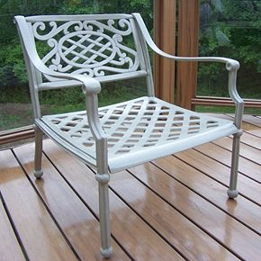 Tacoma Cast Aluminum Outdoor Arm Chair