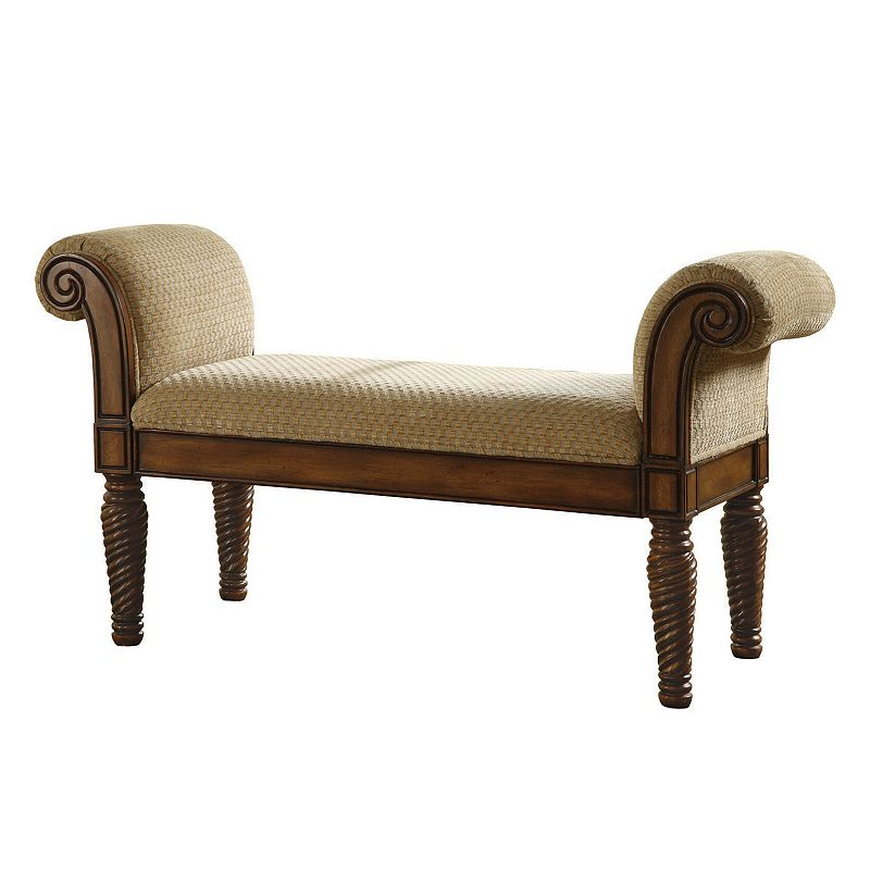 Coaster Upholstered Bench (Brown)
