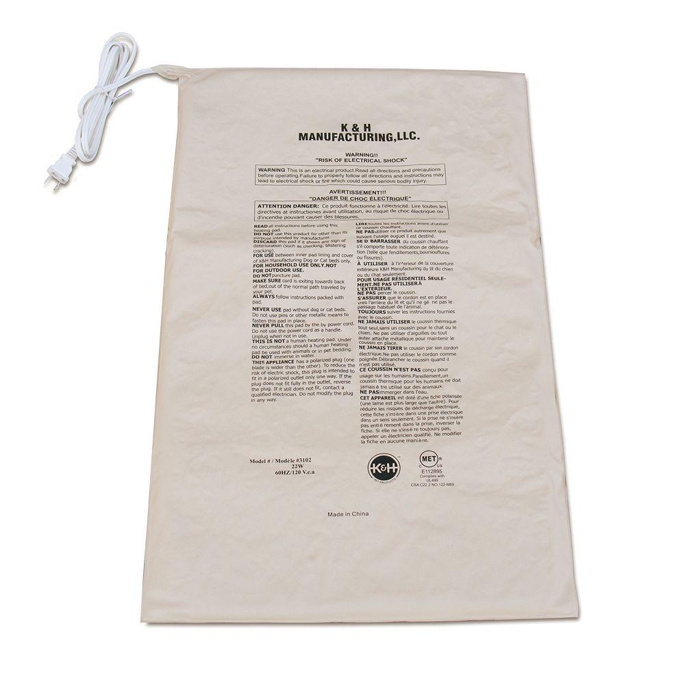 K&H Rectangular Pet Bed Warmer - 26'' x 15.5''
