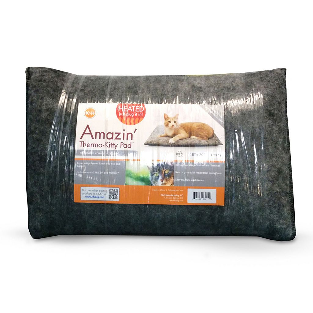 KandH Amazin' Thermo-Kitty Heated Pad - 15'' x 20''