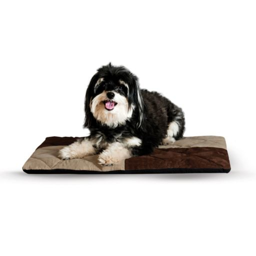 KandH Quilted Memory Dream 2-in. Thick Pet Bed - 19 1/2'' x 25''