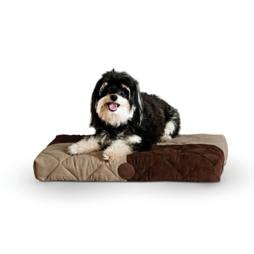 KandH Quilted Memory Dream 3 1/2-in. Thick Pet Bed - 19 1/2'' x 25''