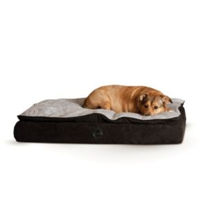 KandH Feather-Top Orthopedic Pet Bed - 30'' x 40''