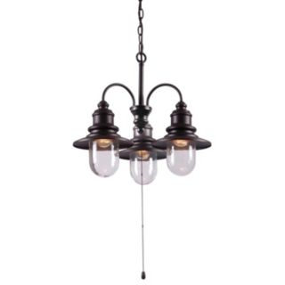 Broadcast 3-Light Outdoor Chandelier