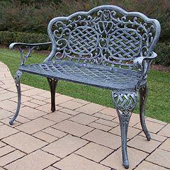 Mississippi Cast Aluminum Outdoor Bench