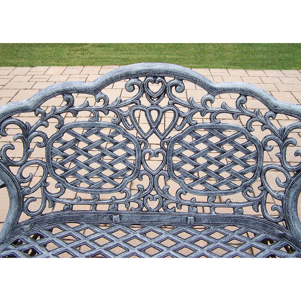Mississippi Cast Aluminum Outdoor Bench