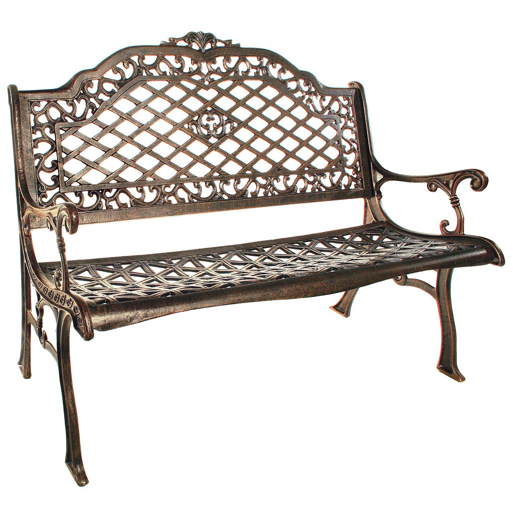 Mississippi Cast Aluminum High Back Outdoor Bench