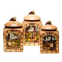 Certified International Tuscan View 3 pc Kitchen Canister Set