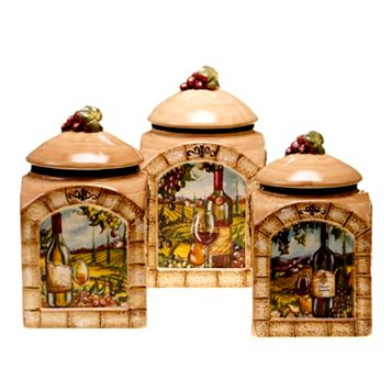 Certified International Tuscan View 3-pc. Kitchen Canister Set