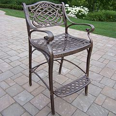 Mississippi Cast Aluminum Outdoor Bar Stool