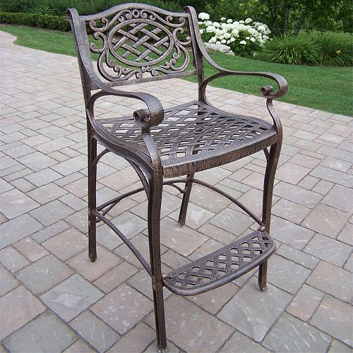 Miraculous Mississippi Cast Aluminum Outdoor Bar Stool Andrewgaddart Wooden Chair Designs For Living Room Andrewgaddartcom