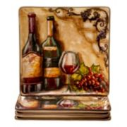 Certified International Tuscan View 4-pc. Square Dinner Plate Set