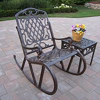 Mississippi Cast Aluminum Outdoor Rocking Chair 2 pc Set