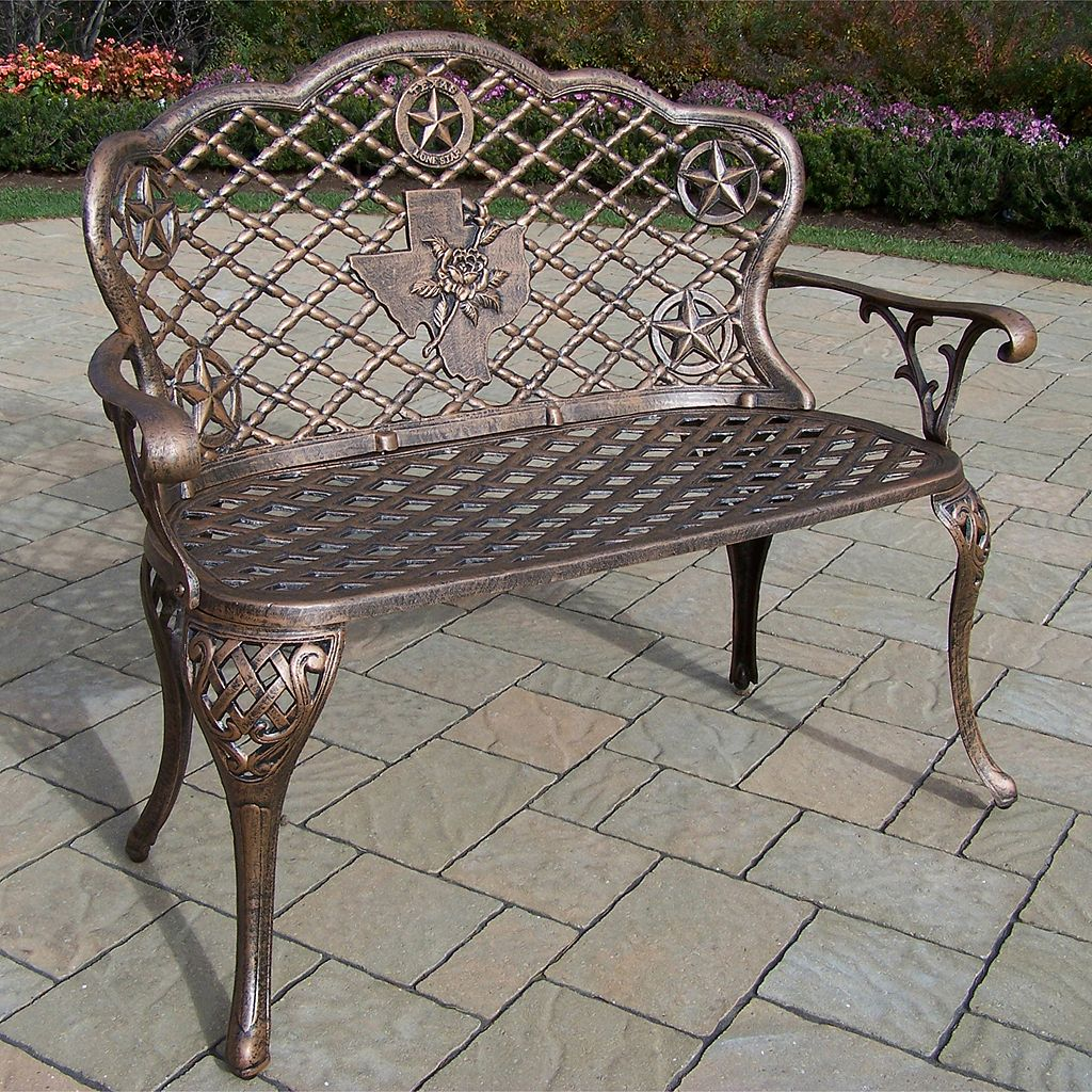 Texas Rose Cast Aluminum Outdoor Bench
