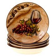 Certified International Tuscan View 4 pc Soup Bowl Set