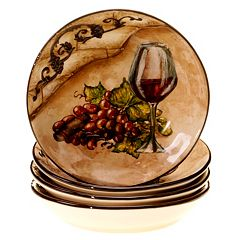 Certified International Tuscan View 4 pc Soup Bowl Set