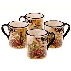 Certified International Tuscan View 4-pc. Mug Set