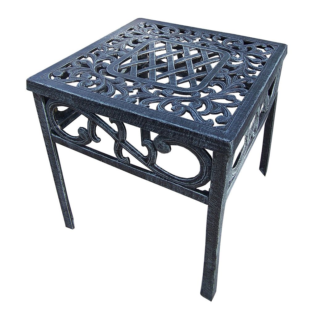 Mississippi Cast Aluminum Outdoor End Table