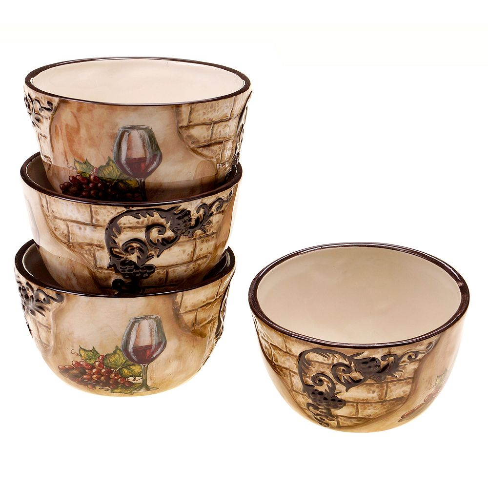 Certified International Tuscan View 4-pc. Ice Cream Bowl Set