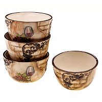 Certified International Tuscan View 4 pc Ice Cream Bowl Set