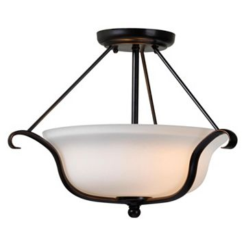 Basket Semi-Flush Mount Ceiling Lamp