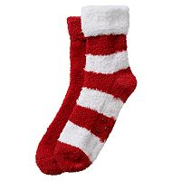 Earth Therapeutics 2-pk. Striped & Solid Shea Butter Socks