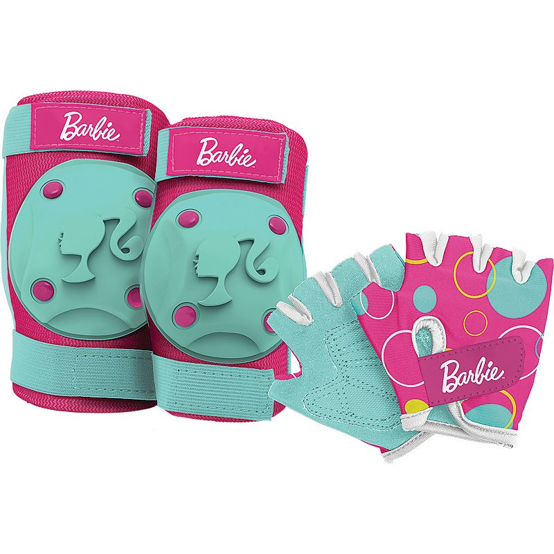 Barbie Elbow, Knee & Hand Protection Set by Bell Sports - Kids (Multicolor)