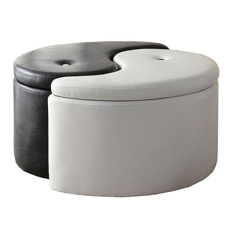 Coaster Yin-Yang Storage Ottoman