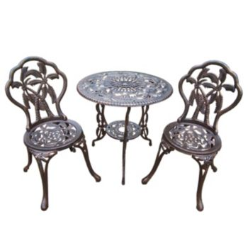 Palm Tree Outdoor Bistro Table 3-piece Set