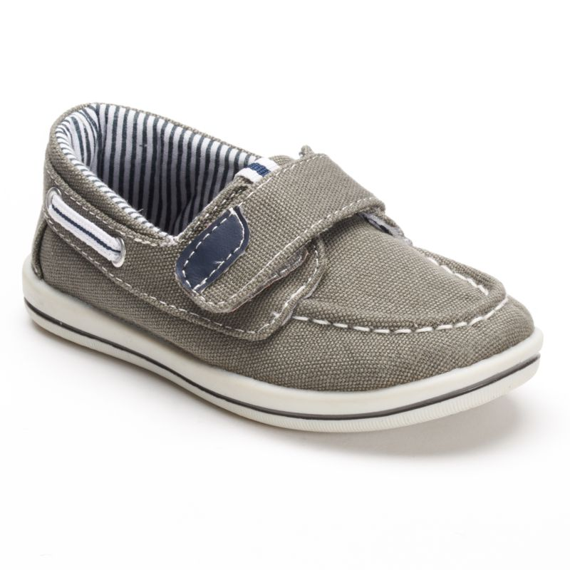 jumping beans toddler boys canvas boat shoes grey