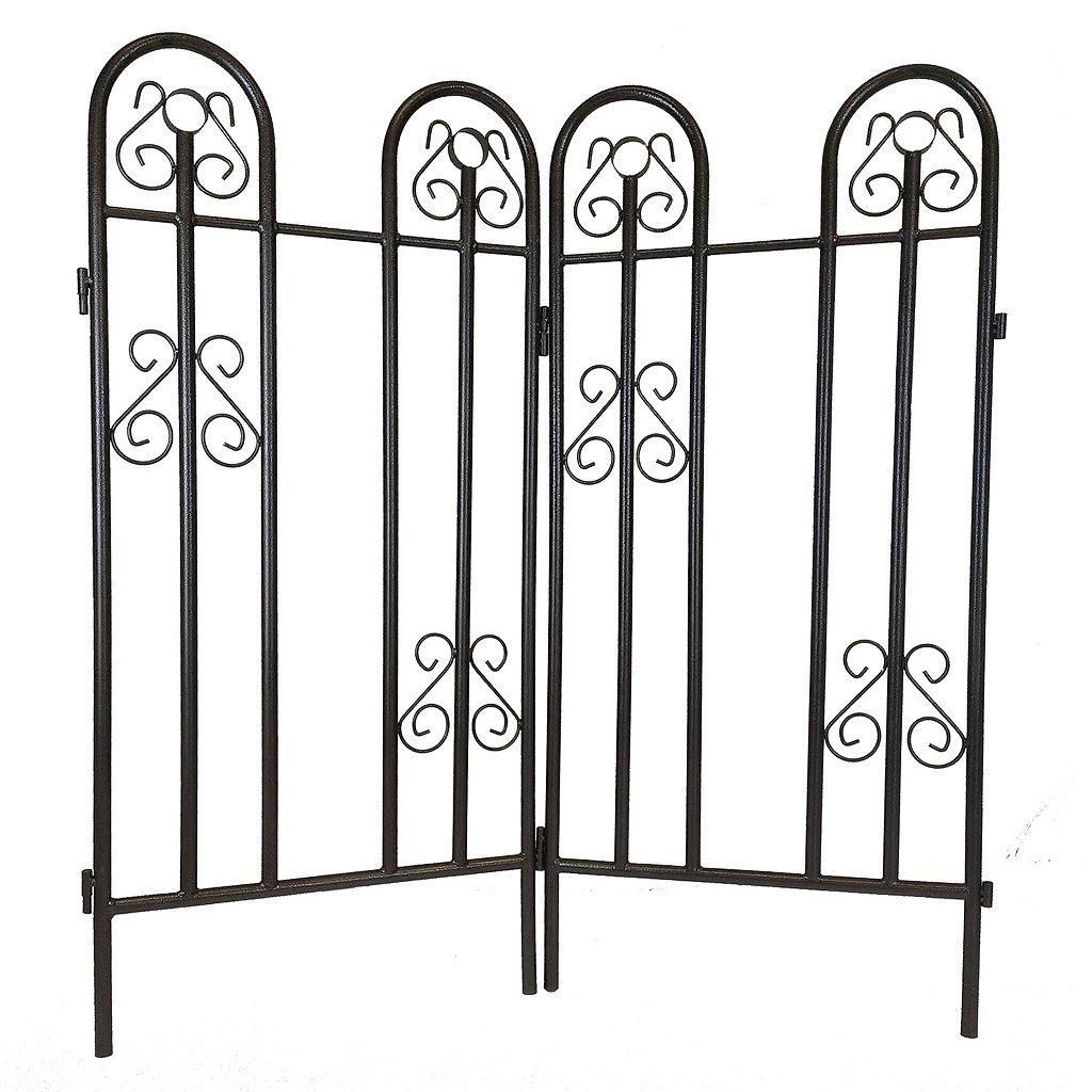 Outdoor Garden Fence 2-piece Set