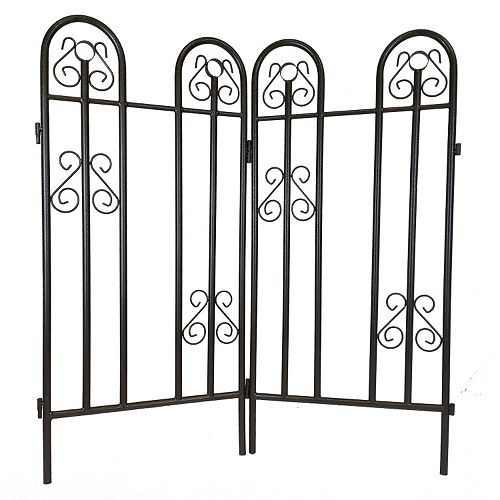 Outdoor Garden Fence 2-piece Set