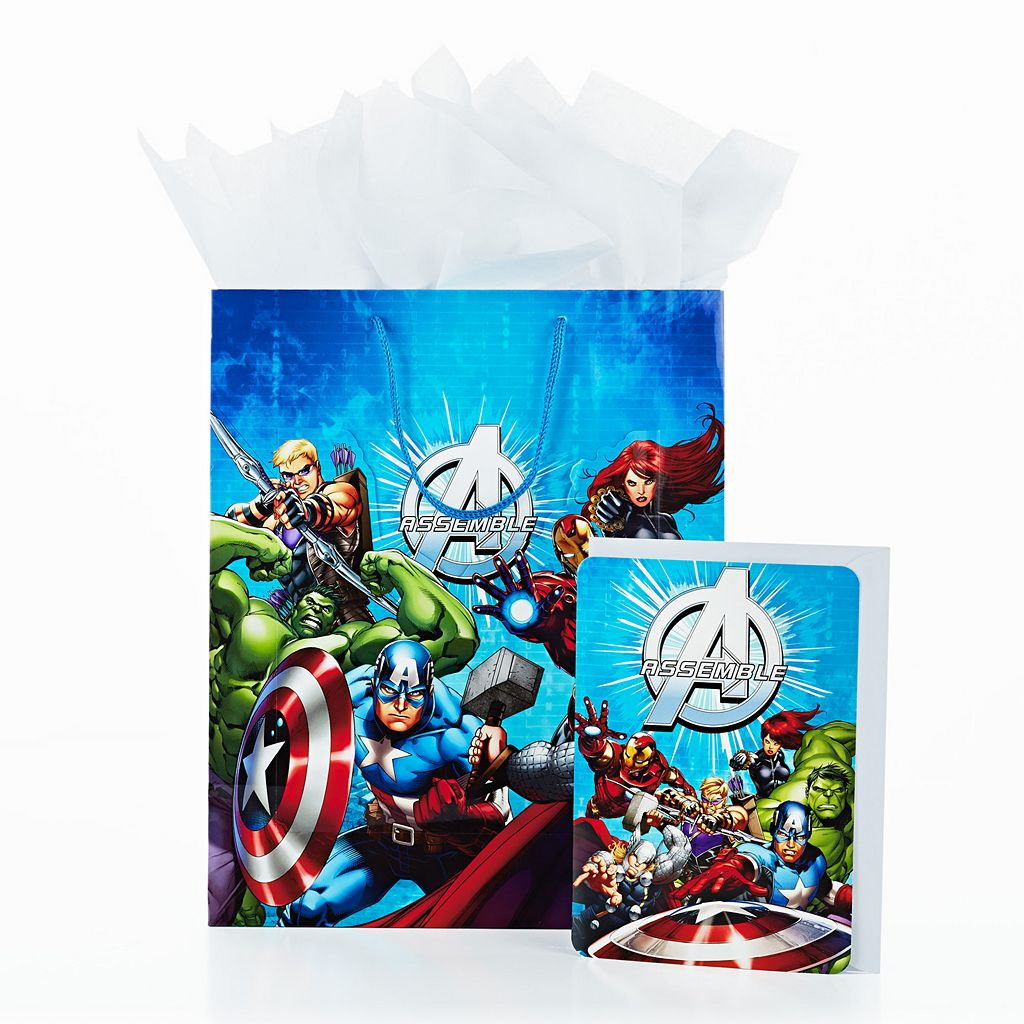 Hallmark Avengers Gift Bag with Card & Tissue