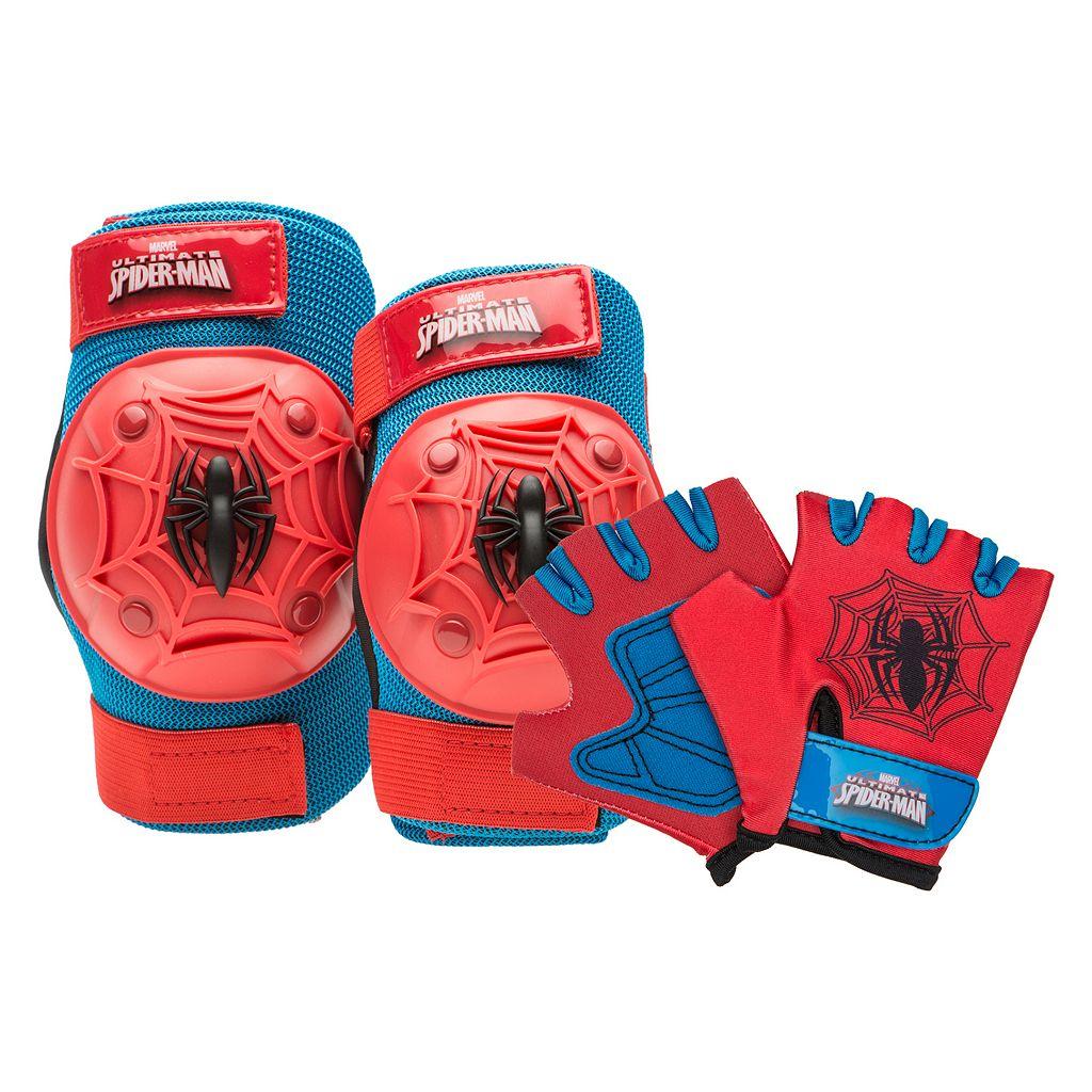 Boys Bell Marvel Spider-Man Knee, Elbow & Hand Pad Set
