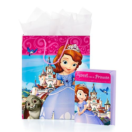 Disney Sofia the First Gift Bag with Card & Tissue by Hallmark