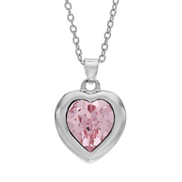 Illuminaire Crystal Silver-Plated Heart Pendant - Made with Swarovski Crystals