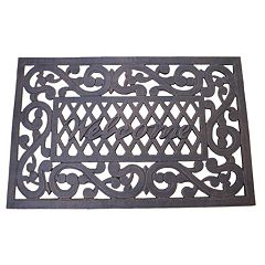 Cast Aluminum Outdoor 'Welcome' Doormat