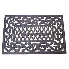 Cast Aluminum Outdoor 'Welcome' Doormat