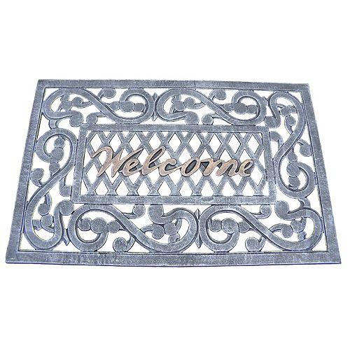 """Cast Aluminum Outdoor """"Welcome"""" Doormat"""