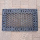 Tea Rose Cast Aluminum Outdoor Door Mat
